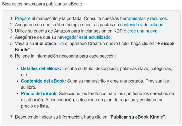 Passos necessaris per a publicar un llibre electrònic a Amazon