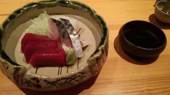 Plat de sashimi