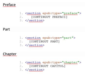 Exemple d'ús de epub:type