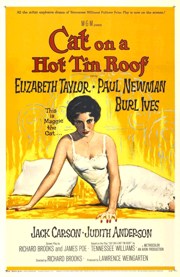 Cat on a Hot Tin Roof, Reynold Brown, 1958, dominio público.