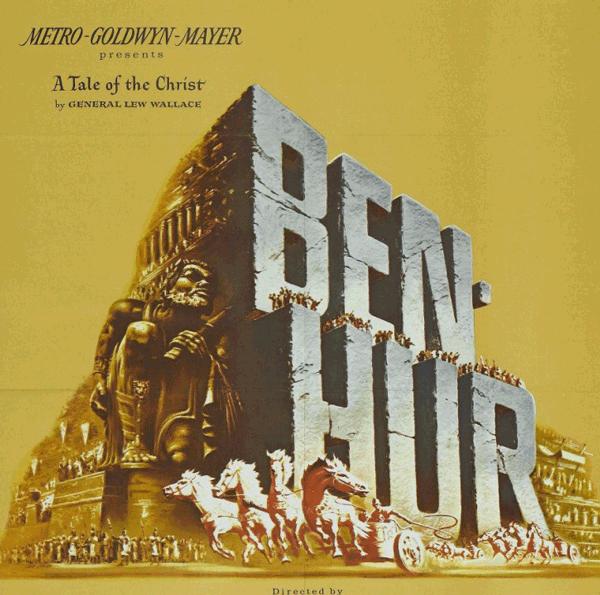 Cartell de la pel·lícula Ben Hur, Reynold Brown, 1959, impawards.com, domini públic.