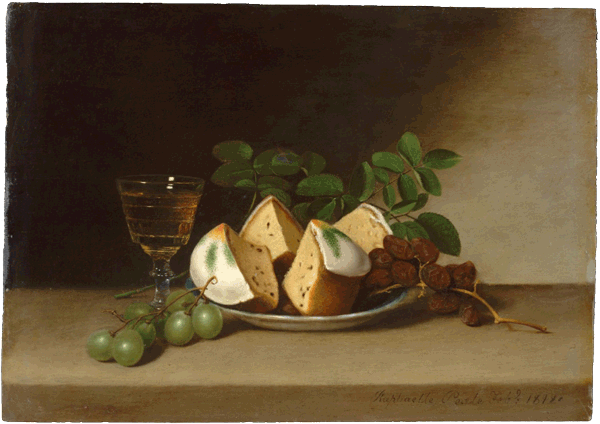 Still Life with Cake, Raphaelle Peale, 1818, Open Access for Scholarly Content (OASC) via Met website.