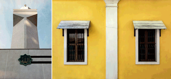 A l'esquerra, Mesquita Xúquer, Gemma San Cornelio, 1996. A la dreta, A tale of two windows, Ruben Alexander, 2016, CC.