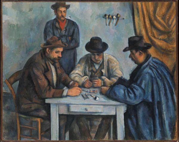 Els jugadors de cartes, Paul Cézanne, 1890-92, Open Access for Scholarly Content (OASC) via Met website.