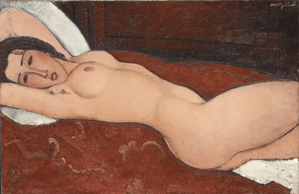 Reclining Nude, Amedeo Modigliani, 1917, Open Access for Scholarly Content (OASC) via Met website.