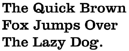 Figura 12. Pangrama compost amb Clarendon (1845), una de les tipografies slab-serif més conegudes