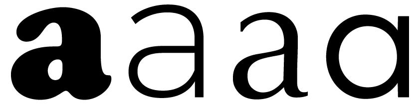 Figura 14. Diferents lletres o caràcters de diversos alfabets.